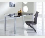Τραπέζι χρωμίου - M1-87 (table brown glass)